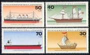 Germany (B) 1977 Ships  /  Boats  /  Transport 4v set (n28274)