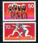 Germany (B) 1978 Sports/ Cycle Racing/ Cycling/ Fencing/ Bikes/ Bicycle/ Transport 2v set (n28115)