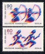 Germany (B) 1979 Archery/ Relay Race/ Athletics/ Sports/ Games 2v set (n28276)