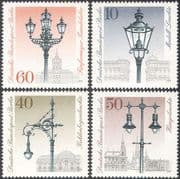 Germany (B) 1979 Electric Street Lights/ Gas Lamps/ Technology 4v set (n27505)