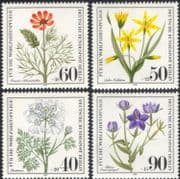 Germany (B) 1980 Relief Fund/ Wild Flowers/ Plants/ Nature/ Welfare/ Conservation/ Health 4v set (n28121b)