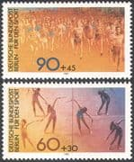 Germany (B) 1981 Sports Fund/ Running/ Gymnastics/ Athletics 2v set (n27521)