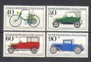 Germany (B) 1982 Cars  /  Transport  /  Motors 4v set (n25422)