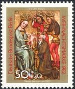 Germany (B) 1982 Christmas/ Greetings/ Nativity/ Art/ Carving/ Kings/ Magi 1v (g10121)