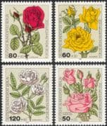 Germany (B) 1982 Relief Fund/ Roses/ Flowers/ Plants/ Nature/ Welfare/ Horticulture 4v set (n28121d)
