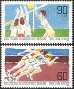 Germany (B) 1982 Sports Fund/ Volleyball/ Athletics/ Games/ Animation 2v set (n27517)
