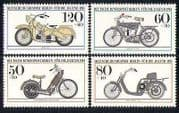 Germany (B) 1983 Motorcycles  /  Bikes  /  Transport 4v  n28268