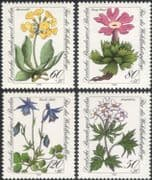 Germany (B) 1983 Relief Fund/ Endangered Alpine Flowers/ Plants/ Nature/ Welfare/ Health/ Conservation 4v set (n28121e)