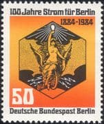 Germany (B) 1984 Berlin Electricity Supply 100th/ Power/ Energy/ Electric/ Statue/ Art 1v (n46219)