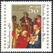 Germany (B) 1985 Christmas/ Greetings/ Nativity/ Art/ Artist/ Painting/ Kings/ Magi/ Three Wise Men 1v (g10123)