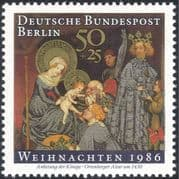 Germany (B) 1986 Christmas/ Greetings/ Nativity/ Art/ Painting/ Kings/ Magi Three Wise Men 1v (g10124)