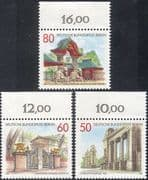 Germany (B) 1986 Gates/ Architecture/ Elephants/ Buildings/ Art/ Craft 3v set (n28087)