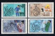 Germany (B) 1986 Trades  /  Business  /  Welfare 4v set n27499