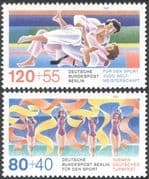 Germany (B) 1987 Sports/ Judo/ Martial Arts/ Gymnastics/ Animation 2v set (n25427)