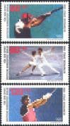 Germany (B) 1988 Clay Pigeon Shooting/ Skating/ Athletics/ Sport/ Olympic Games 3v set (n27507)