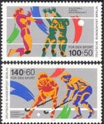 Germany (B) 1989 Sports Fund/ Hockey/ Volley Ball/ Volleyball/ Games/ Animation 2v set (n27519)