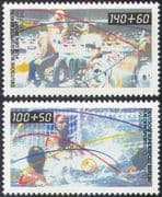 Germany (B) 1990 Sports Fund/ Wheelchair Basketball/ Water Polo/ Disabled 2v set (n27522)