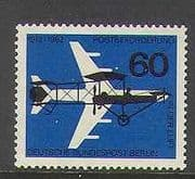 Germany (Berlin) 1962 Plane  /  Aircraft  /  Mail 1v (n23532)