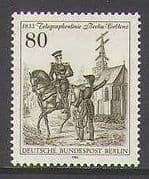 Germany (Berlin) 1983 Horse  /  Telegraph  /  Animals 1v n23581