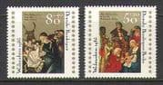 Germany + Berlin 1985 Christmas  /  Nativity  /  Art  /  Cattle  /  Magi  2v (n21278)