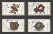 Germany (Berlin) 1987 Jewellery  /  Gold  /  Gems 4v set n21384