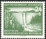 Germany (DDR) 1954 Flood Relief Fund/ Dam/ Forest/ Trees/ Park/ Nature 1v (n28086)