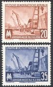 Germany (DDR) 1956 Crane/ Rail/ Railway/ Industry/ Leipzig Fair/Transport 2v set (n27580)