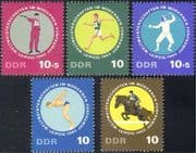 Germany (DDR) 1965 Sports/ Show Jumping/ Horses/ Pistol Shooting/ Fencing/ Pentathlon/ Games 5v set (n44395)