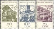 Germany (DDR) 1966 Wartburg Castle 900th Anniversary/ Buildings/ Architecture /Heritage/ History 3v set (n44570)
