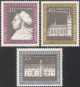 Germany (DDR) 1967 Martin Luther/ Religion/ Protestant Reform/ People/ Church/ Building 3v (n45307r)