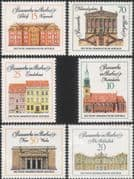 Germany (DDR) 1971  Old Library/ Church/ Castle/ Architecture/ Buildings  6v set  (n46372)