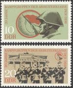 Germany (DDR) 1973 Workers Militia/ Military/ Soldiers/ Army/ Rifle/ Weapons/ Shooting 2v set (n43663)