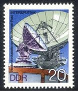 Germany (DDR) 1976 Radio Dish/ Satellite/ Space/ Communications/ Telecomms 1v (n23536)
