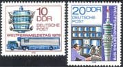 Germany (DDR) 1978 Communications/ Telecommunications/ Broadcasting/ Television/ TV/ Radio Tower/ Lorry/ Transport 2v set (n23860)
