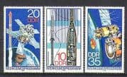 Germany (DDR) 1978 Interkosmos  /  Space  /  Satellite  /  Rocket s  /  Science 3v set (n24040)