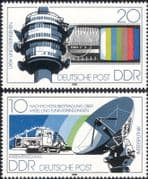 Germany (DDR) 1980 Communications/ TV/ Radio Tower/ Satellite Dish Aerial/ Space 2v set (s144h)
