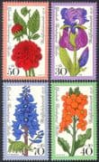 Germany (B) 1976 Garden Flowers/ Nature/ Relief Fund/ Plants 4v set (n41244)