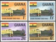 Ghana 1963 Trains/ Steam Engines/ Locomotives/ Railway/ Rail/ Transport 4v set (n42822)