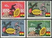 Ghana 1967 Cocoa/ Farming/ Food/ Plants/ Nature/ Microscope/ Science/ Research 4v set (n41801)