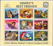 "Ghana 1996 Disney/ ""Best Friends""/ Bambi/ Pinocchio/ Mowgli/ Teddy Bears/ Fox/ Dog   9v sht (b434)"