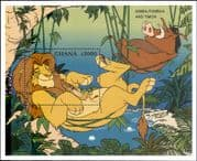 "Ghana 1996 Disney/ ""Lion King""/ Simba/ Timon/ Cartoons/ Animation/ Films/ Cinema 1v m/s (b3123)"