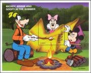 Ghana 1998 Disney/Mickey/ Minnie/ Goofy/ Camping/ Camp Fire/ Cartoons/ Animation 1v m/s (ad1023)