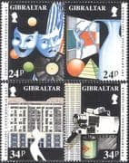 Gibraltar 1993 Europa/ Contemporary Art/ Music/ Dance/ Dancing/ Theatre/ Drama/ Photography/ Architecture 4v set (n43614)