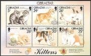 Gibraltar 1997 Kittens  /  Cats  /  Pets  /  StampEx  /  Animals  /  Nature 6v m  /  s (b5285)