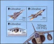 "Gibraltar 1999 ""Wings of Prey""/ Military Planes/ Aircraft/ Aviation/ Jet Fighters/ Transport 3v m/s (n42152)"