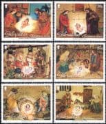 Gibraltar 2002 Christmas/ Greetings/ Nativity/ Stable/ Donkey/ Cattle/ Crib Figures/ Figurines 6v set (n22937)