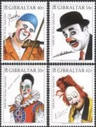 Gibraltar 2002 Europa/ Famous Clowns/ Circus/ People/ Entertainment 4v set (n22900)