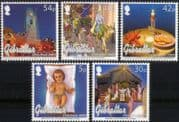 Gibraltar 2003 Christmas/ Greetings/ Camels/ Crib Figures/ Clock Tower/ Church/ Cathedral 5v set (s6392f)