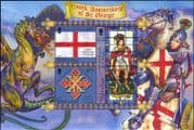 Gibraltar 2003 St George/ Flags/ Military Order/ Stained Glass/ Cross/ Dragon  3v m/s (b141k)