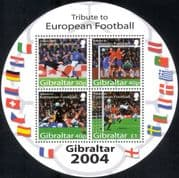 "Gibraltar 2004 ""Euro 2004""/ European Football Championships/ Sports/ Soccer/ Games/ Flags 4v m/s round (n17486)"